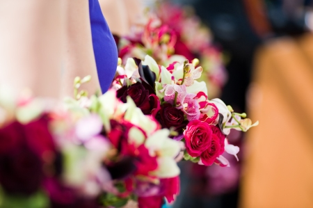 Their bouquets were just bursting iwth orchids, roses, gloriosas, and more.