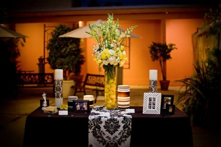 No need to snap those tall yellow snapdragons unless you want to!  Photo by One Love Photography.