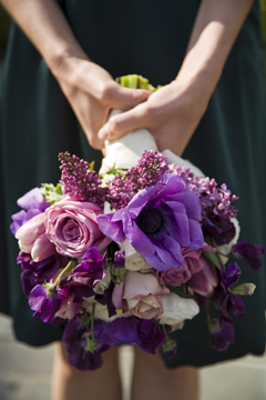 Lilacs have woody stems- simply make a sharp cut and place into clean water.  No smashing necessary!  Photo by Christine Marie Photography