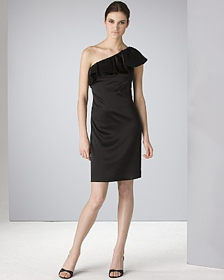 I've never rocked a one shoulder dress, but I wouldn't mind giving this one a whirl.  ABS via Bloomingdales.