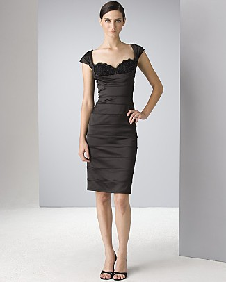 This Tadashi number is soooo cute, but is the lace on the chest a little too risque?  Tadashi via Bloomingdales.