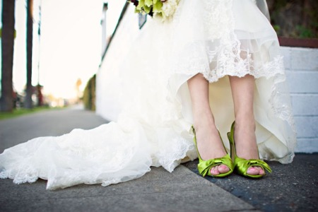 Her delicate dress and funky shoes were to die for!