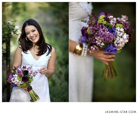 Lilacs, viburnum, anenomes.