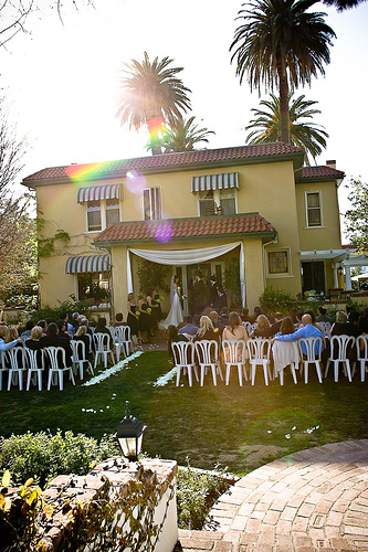 I attended a wedding at The French Estate.  Actually, it was for my first married friend!  This venue is so quaint and cozy.  It feels like it could be your own front porch.