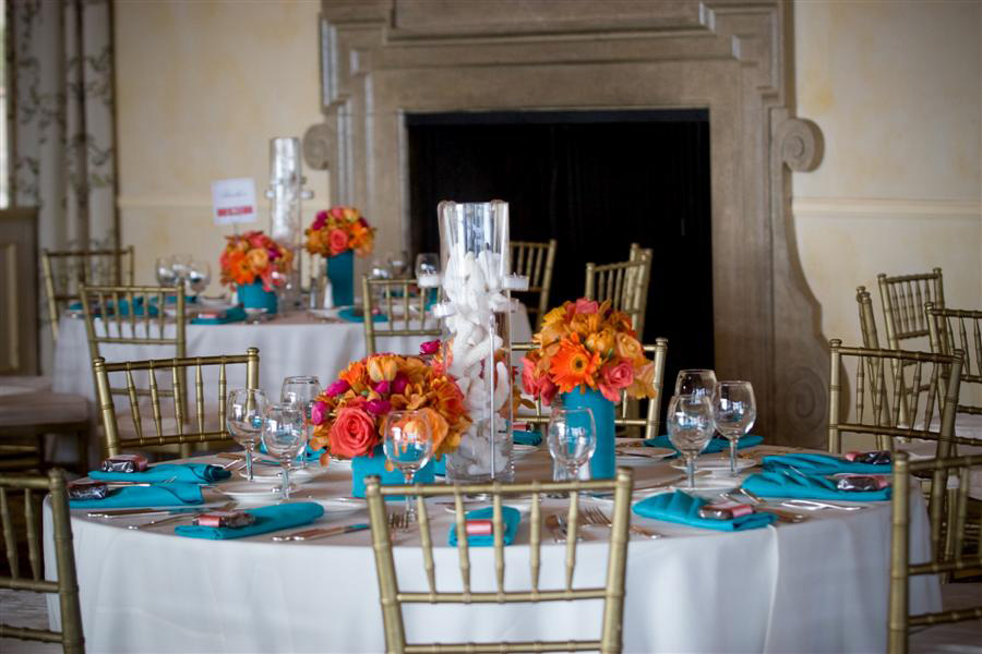 Orange And Blue Table Decorations Photograph Love White Co