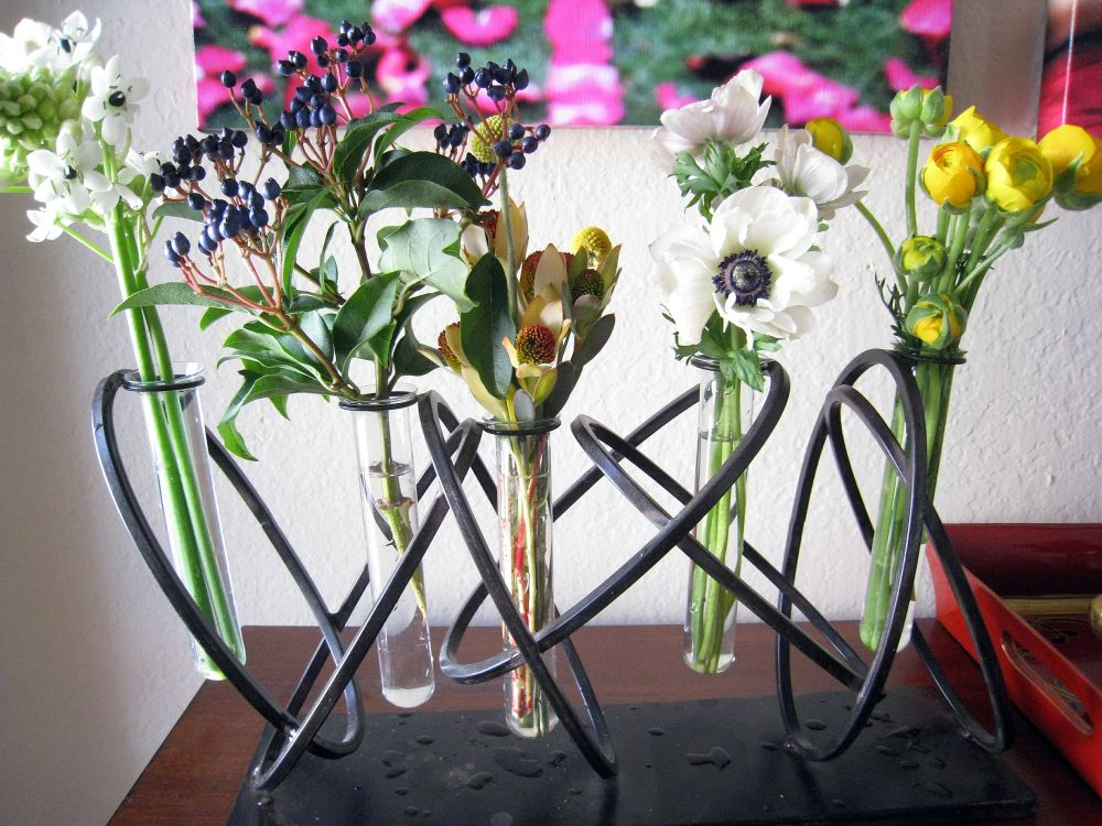 Test tube bud vases